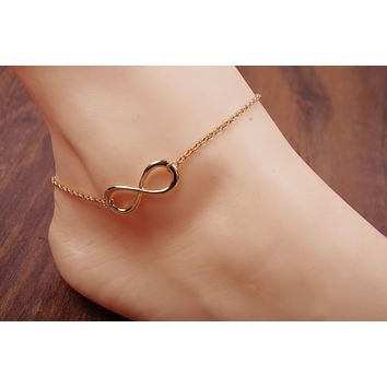 Simple fashion summer wild lucky numbers 8 Lucky 8 word simple anklet