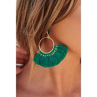 Ultimate Decision Drop Earrings (Green/Gold)