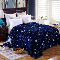 Bright stars bedspread blanket  High Density Super Soft Flannel Blanket