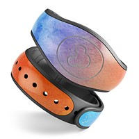 Mixed 8652 Absorbed Watercolor Texture - Decal Skin Wrap Kit for the Disney Magic Band