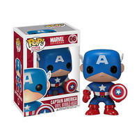 Captain America Pop Heroes Bobblehead Vinyl Figure