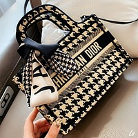 Dior New fashion letter canvas shoulder bag crossbody bag handbag