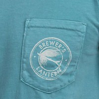 The Fishin' Fly Tee in Seafoam by Brewer's Lantern
