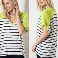 Kiwi & Stripes Top