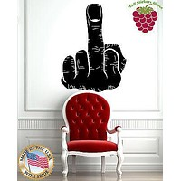 Wall Stickers Vinyl Decal Man Hand Middle Finger Rude Symbol Funny Cool  Unique Gift EM522