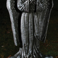 "Halloween Decor: 24"" Tombstone-Gothic Lighted Angel"