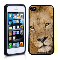 Lion (Male) Face iPhone 5 Case - For iPhone 5/5G - Designer TPU Case Verizon AT&T Sprint
