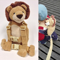 Goldbug 2 in 1 Harness Buddy 30 Models Baby Safety Animal Toy Backpacks Bebe Walking Reins Toddler Leashes Kid Keeper Carrier