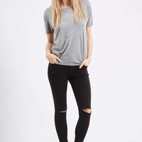 MOTO Black Ripped Leigh Jeans - Jeans - Clothing
