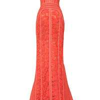 Paneled V-Neck Sleeveless Gown by J. Mendel for Preorder on Moda Operandi