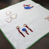 Helicopter Baby Activity Playmat, Baby Quilt, Quilted Blanket, Nursery Blanket, Buggy Blanket