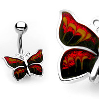 Butterfly Belly Ring Navel Ring Body Jewelry Belly Piercing
