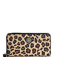 Tory Burch - Kerrington Leopard-Print Zip Continental Wallet - Saks Fifth Avenue Mobile