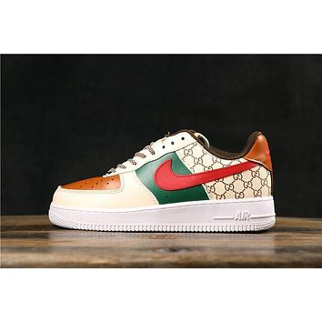 OFF White x Nike Air Force 1 AF1 Low Fashion Sneakers-1