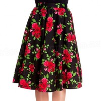 Hell Bunny Cannes Floral Circle Skirt   Full Circle Retro Skirt