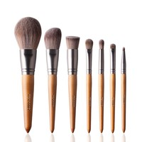 Texamo 7PCS  Makeup Brushes Premium Makeup Brush Set Professional Wood Handle  Cosmetics Makeup Brush Tools