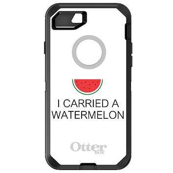 DistinctInk™ OtterBox Defender Series Case for Apple iPhone / Samsung Galaxy / Google Pixel - I Carried A Watermelon