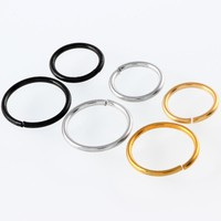 3pcs/lot Nose Ring Piercings  Fake Nose Ring Septum Septo Cartilage Labret Ring Earring Ear Stud Tragus Pirecings Body Jewelry