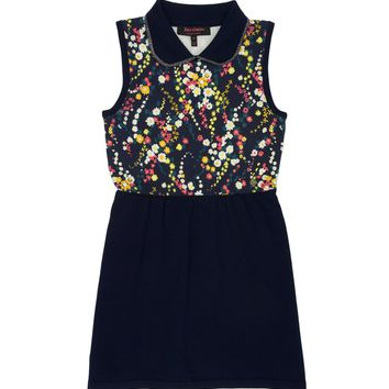 Girls Wildflower Print Floral Dress by Juicy Couture