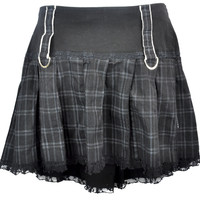 Vintage Plus Size Tripp NYC Black & White Plaid Pleated Skirt Size 16