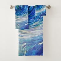 Wave to Van Gogh Bath Towel Set