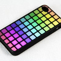 Make up palette iPhone 4 iPhone 4S Case, Rubber Material Full Protection