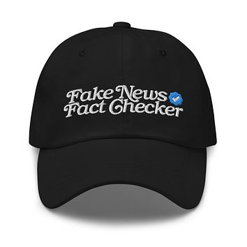 Fake News Fact Ckecker Dad hat