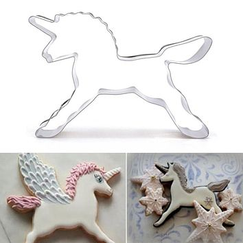 New Coming 1Pcs Unicorn Horse Shape Cookies Cutter Mould Fondant Cake Decorating Chocolate Biscuit Pastry Mould Baking Tools