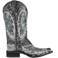 Women's Circle G Black and Grey Crackle Cowgirl Boots
