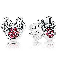 Minnie Mouse Sparkling Earrings by PANDORA