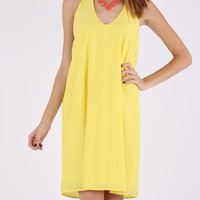 Shutting It Down Dress - Yellow