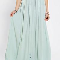 Urban Outfitters - Pins And Needles Embroidered Hem  Maxi Skirt