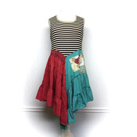 Gypsy Dress, Festival Clothing, Bohemian Dress, Hippie Dress, Patchwork Dress, Funky Clothing, Sustainable Clothing, Upcycled Clothing