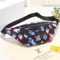 Louis Vuitton LV New Waist Bag Fashionable Men and Women Mobile Phone Bags Casual Sports Shoulder Messenger Bag