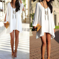 Fashion Sexy Women Summer Casual Sleeveless Party Evening Cocktail Short Dress