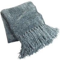 Chenille Throw - Smoke Blue