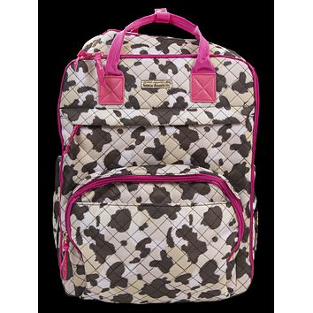 Simply Southern Preppy Cow Print Backpack Bag