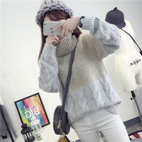 Casual Thickened Turtleneck Loose Knitwear Sweater
