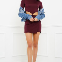 Val Crop Set - Burgundy