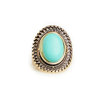 DailyLook: Turquoise Shield Ring