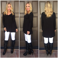 Flared Out Tunic - Black