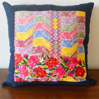 Huipil Pillow Cover Bright Floral