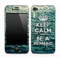 Rough Water -Keep Calm & Be A Mermaid- Skin for the iPhone 3gs, 4/4s, 5, 5s or 5c