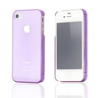 Super Thin Light Air Case for Apple iPhone 4 4S, Transparent Purple
