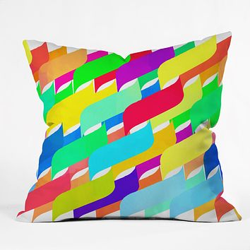 Rebecca Allen Riveting Throw Pillow