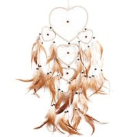 Vintage Handmade Dream Catcher Dream Catcher Net with Feather Bead Wall Hanging Decoration Car Ornament Craft Gifts