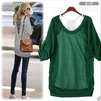 Blouse-green/two piece