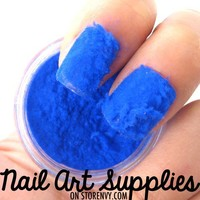 nailartsupplies | Blue Sweater Nails - Furry Velvet Flocking Nail Art Powder Mix | Online Store Powered by Storenvy
