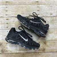 2011 Nike Air Max Black Silver Reflective 3M Running Shoes Womens US Size 7.5