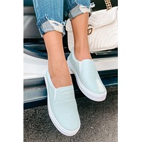 Tammy Perforated Slip-On Sneakers (Mint)